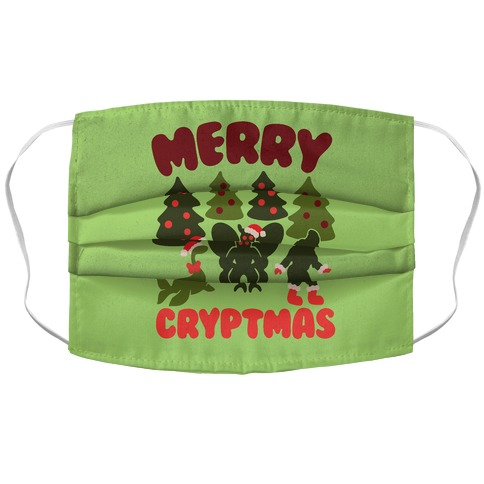 Merry Cryptmas Accordion Face Mask