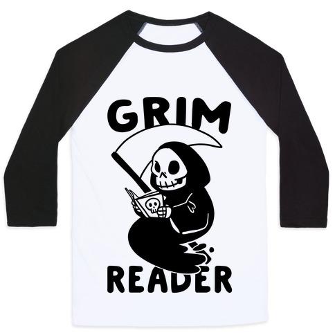 Grim Reader Baseball Tee
