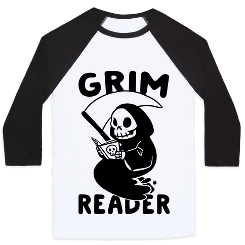 Grim Reader Baseball Tee