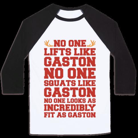 No One Lifts Like Gaston Parody Baseball Tee