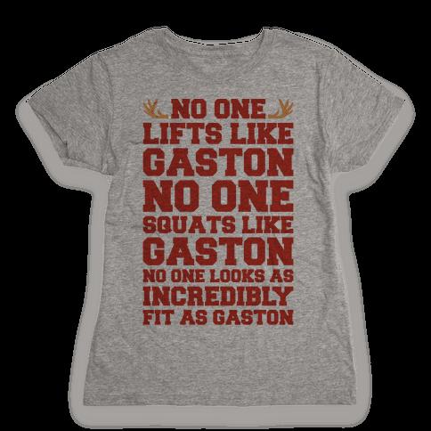 No One Lifts Like Gaston Parody Womens T-Shirt
