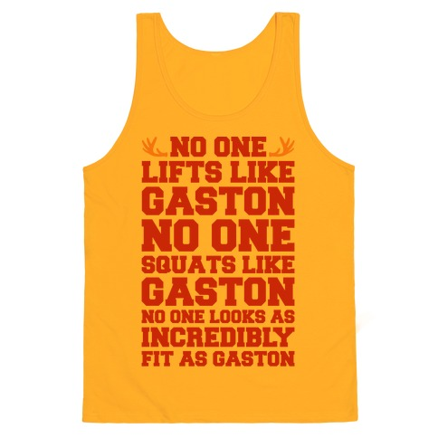 No One Lifts Like Gaston Parody Tank Top