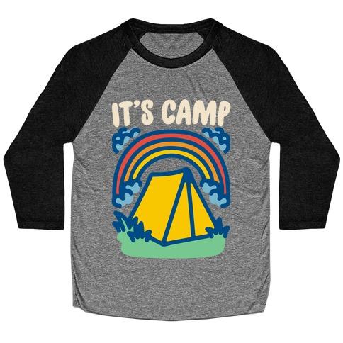 It's Camp White Print Baseball Tee
