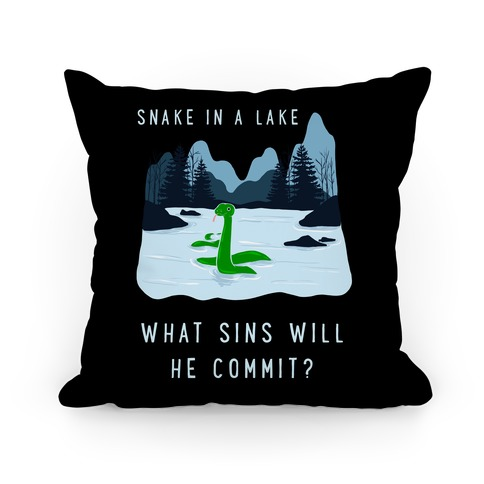 Snake In a Lake Pillow