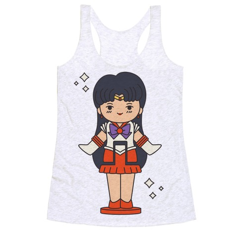 Sailor Mars Pocket Parody Racerback Tank Top