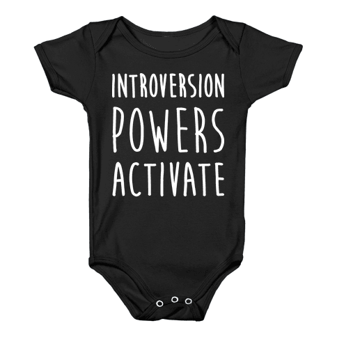 Introversion Powers Activate Baby Onesy
