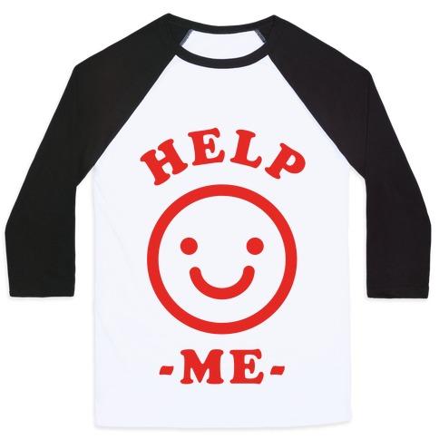 Smiley Face Emoji Baseball Tees | LookHUMAN