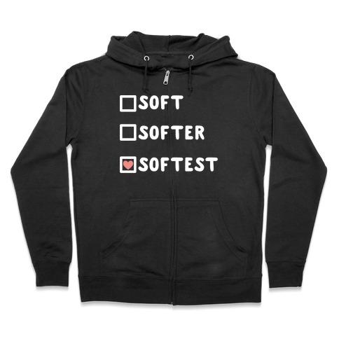 Soft Softer Softest Check list Zip Hoodie