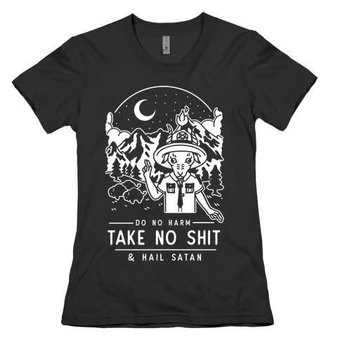 Do No Harm Take No Shit & Hail Satan Womens T-Shirt