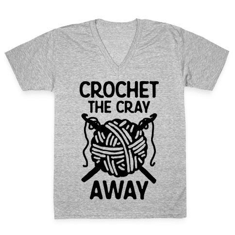 Crochet The Cray Away V-Neck Tee Shirt