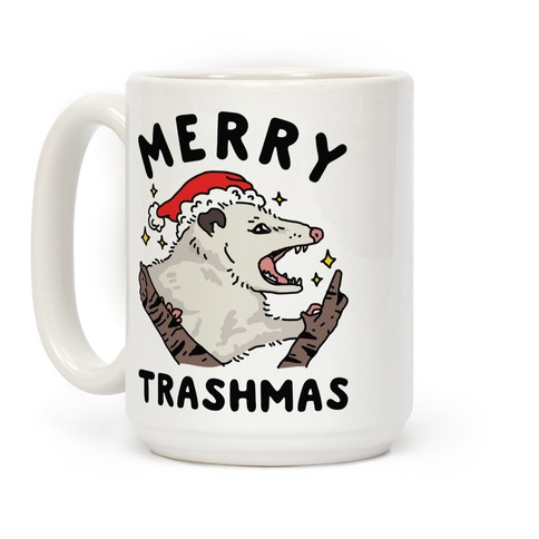 Merry Trashmas Opossum Coffee Mug