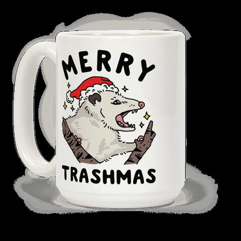 Merry Trashmas Opossum Coffee Mug