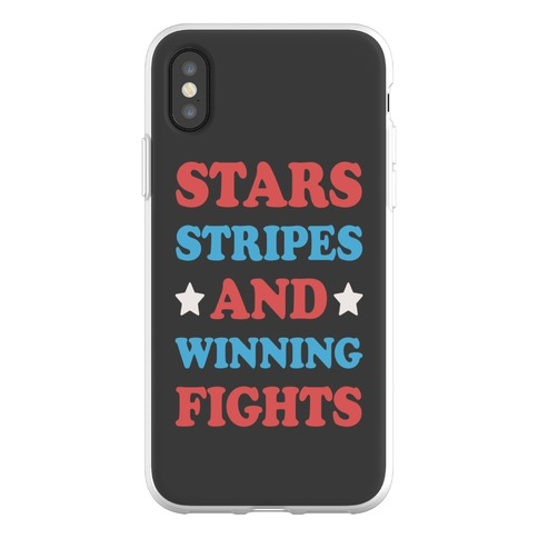 Stars Stripes And Winning Fights Phone Flexi-Case