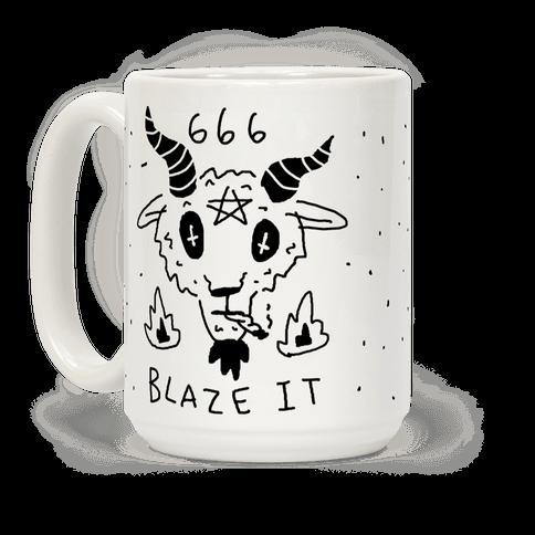 666 Blaze It Satan Coffee Mug