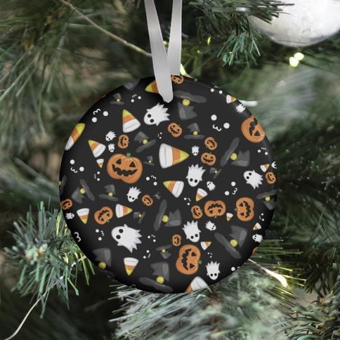 Spoopy Halloween Pattern Ornament