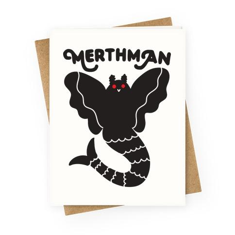 Merthman (Mermaid Mothman) Greeting Card