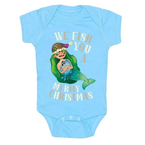 We Fish You a Mermy Christmas Baby Onesy