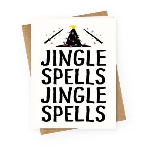Jingle Spells Christmas Greeting Card