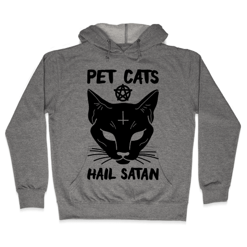 Pet Cats Hail Satan Sphynx Hooded Sweatshirt