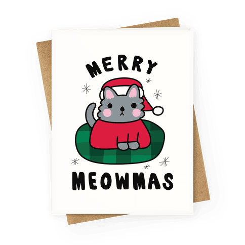 Merry Meowmas Greeting Card