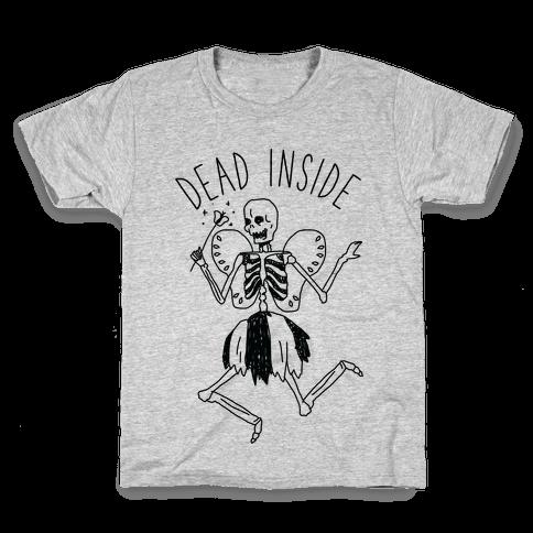 Dead Inside Skeleton Fairy Kids T-Shirt