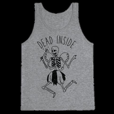 Dead Inside Skeleton Fairy Tank Top