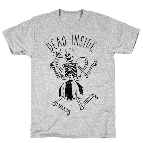 Dead Inside Skeleton Fairy Mens T-Shirt
