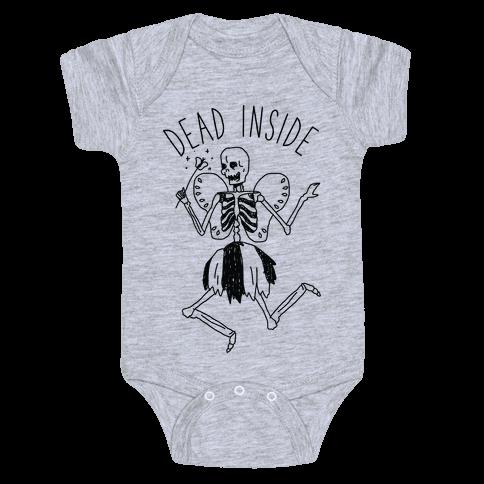 Dead Inside Skeleton Fairy Baby Onesy