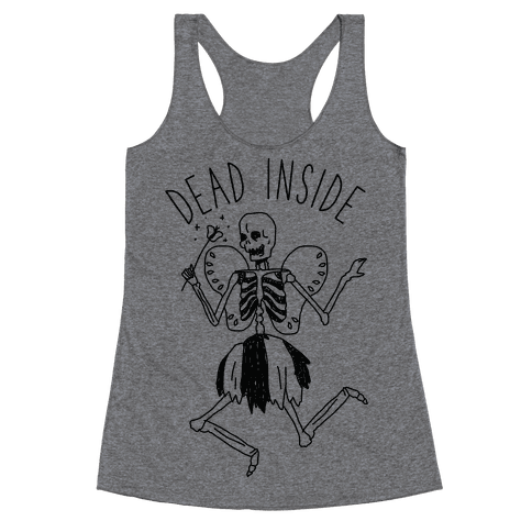 Dead Inside Skeleton Fairy Racerback Tank Top