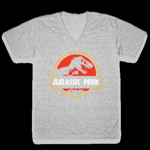 Jurassic Perk V-Neck Tee Shirt