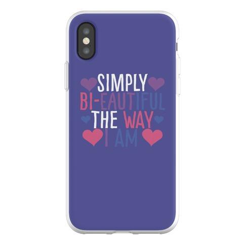 Simply Bi-eautiful the Way I Am Phone Flexi-Case