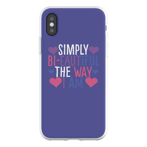 Simply Bi-eautiful the Way I Am Phone Flexi-Case