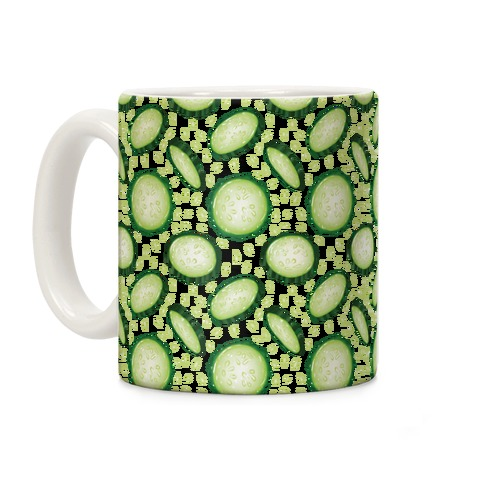 Refreshing Cucumber Pattern Coffee Mug