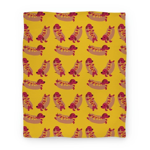 Hot Doggie Pattern Blanket
