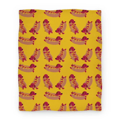 Hot Doggie Pattern Blanket