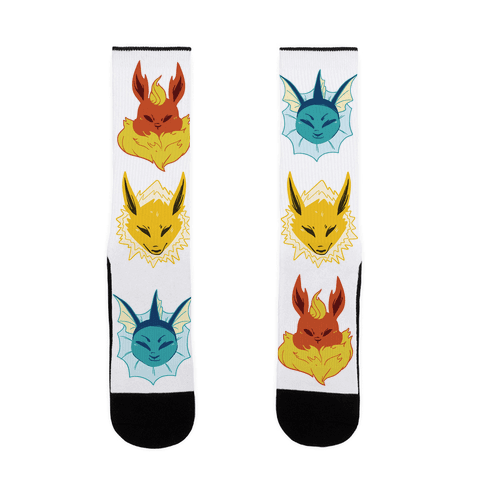 Jolteon, Vaporeon and Flareon Sock