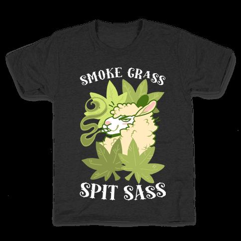 Smoke Grass Spit Sass Kids T-Shirt