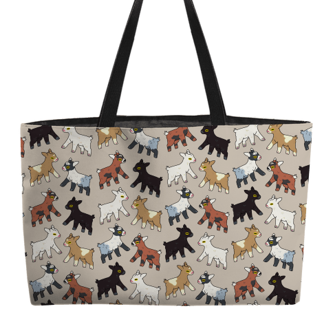 Baby Goats On Baby Goats Pattern Weekender Tote