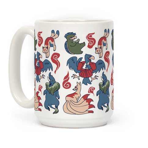 Yokai Guys Pattern  Coffee Mug