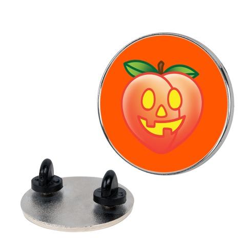 Peach Jack-O-Lantern Pin
