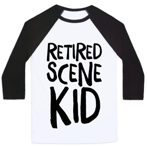 Retired Scene Kid Baseball Tee