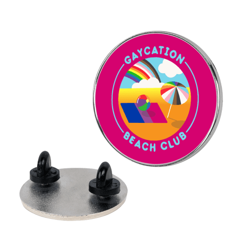 Gaycation Beach Club Patch Pin