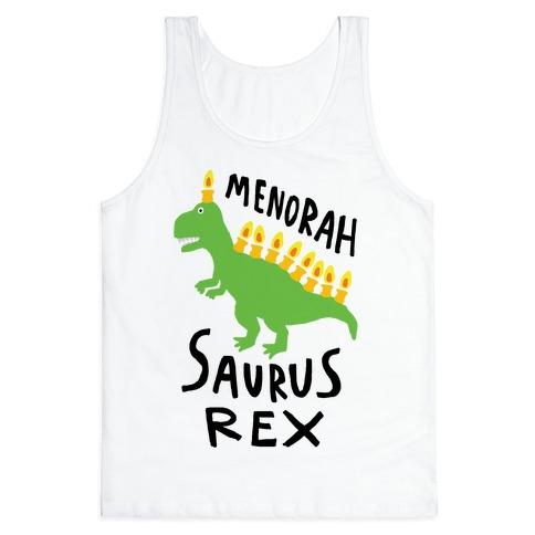Menorah Saurus Rex Tank Top