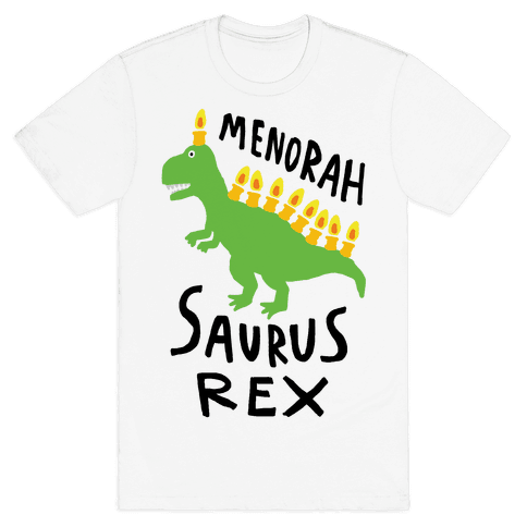 Menorah Saurus Rex  Mens T-Shirt