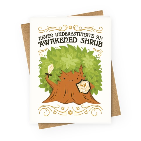 Awakened Shrub Greeting Card