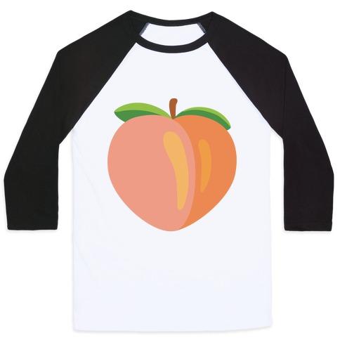 Eggplant/Peach Pair (Peach) Baseball Tee