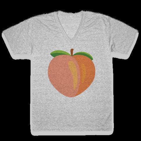 Eggplant/Peach Pair (Peach) V-Neck Tee Shirt