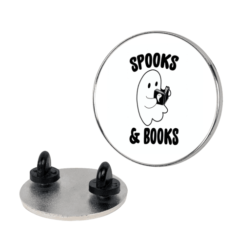 Spooks and Books Pin