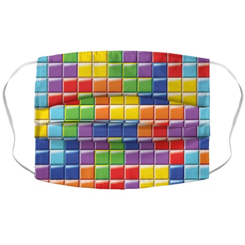 Tetris Pattern Accordion Face Mask