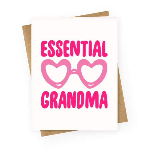 Essential Grandma Greeting Card